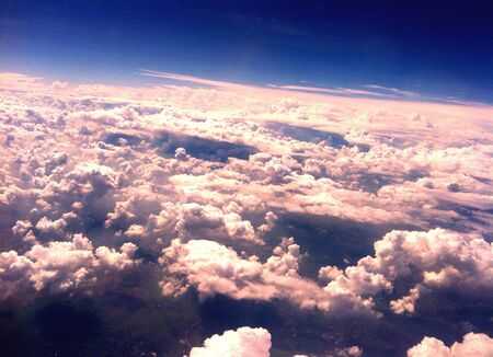 view: Sky view from Airplane Stock Photo
