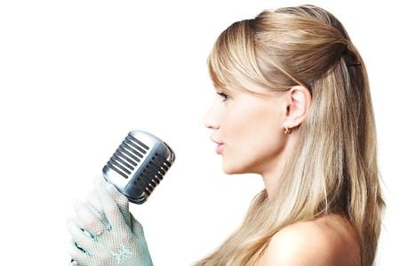 Singing girl photo