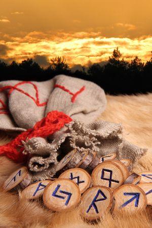 runes: Runes au coucher du soleil