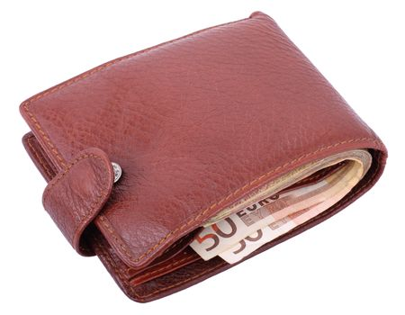 leather wallet isolated on white background photo