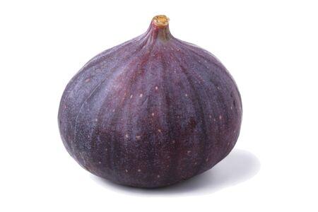 purgative: fresh fig isolated on white background