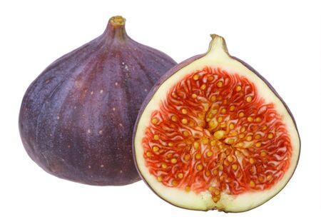 purgative: Fresh figs isolated on white background