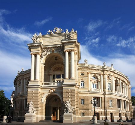 odessa: Old opera  built in the 19th century. Odessa, Ukraine. Stock Photo