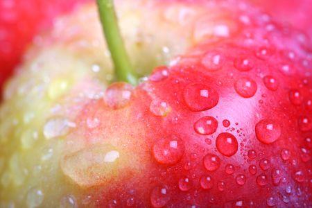 shallow dof: Apple close-up. Shallow DOF Stock Photo