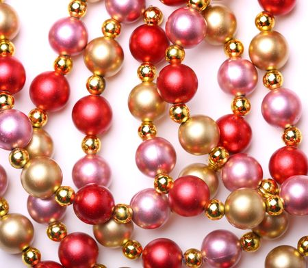 newyears: Background of shining beads