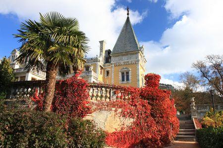 Palace of russian emperor Alexander III in Massandra (near Yalta). Built in 1881-1902. Crimea, Ukraine Stock Photo - 3920715