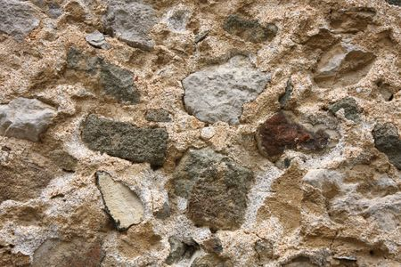impregnable: Close-up of old fortress wall