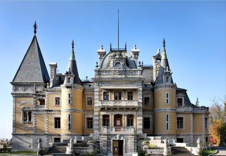 palacio ruso: Palacio de emperador ruso Alexander III en Masandra (cerca de Yalta). Construido en 1881-1902. Crimea, Ucrania