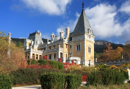 Palace of russian emperor Alexander III in Massandra (near Yalta). Built in 1881-1902. Crimea, Ukraine photo