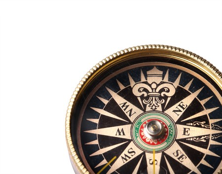 Compass isolated on white background Stock Photo - 4543764