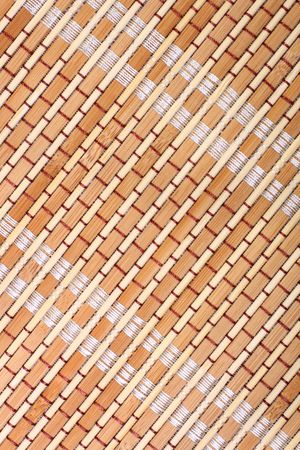 Close-up of bamboo mat for background photo
