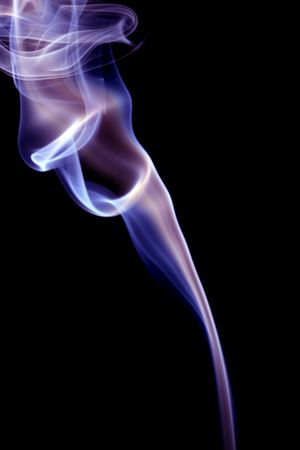 Smoke isolated on black  Stock Photo - 5195669