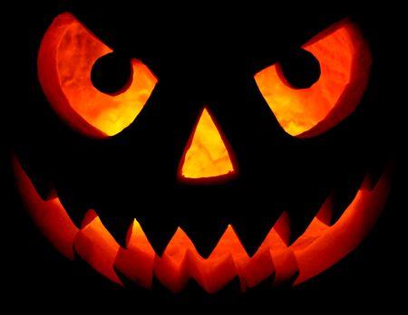 Halloween pumpkin isolated on black photo