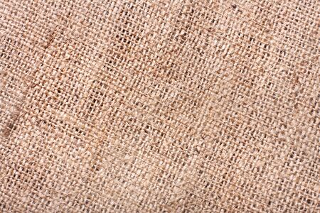 Close-up of burlap texture Stock Photo