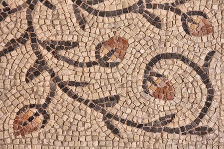 romana: Fragmento de la vieja mosaico bizantino en la basílica de Eufrasio. Croacia, Porec Foto de archivo