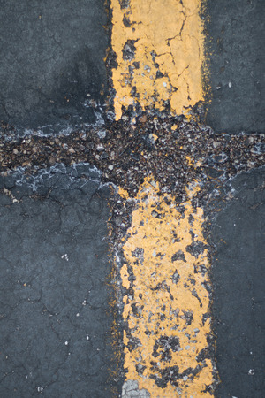 blacktop: grungy parking lot texture Stock Photo