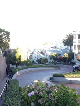 lombard street in san francisco califormia windy curvy road 스톡 콘텐츠