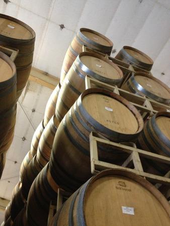 wine barrels at winery napa valley 写真素材