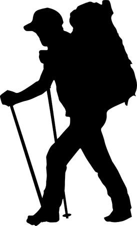 Sac à dos randonneur silhouette randonneur outdoorman homme alpiniste
