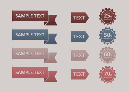 pennon: Modern   Design button   can be used for infographics  numbered banners  horizontal cutout lines  graphic or website layout