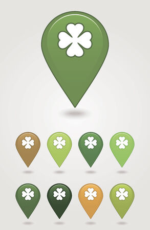 satined: mapping pins icon St. Patricks Day  Illustration