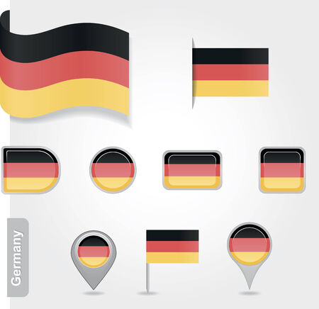 Germany icon set of flags Vector