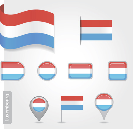 luxembourg: Luxembourg icon set of flags Illustration