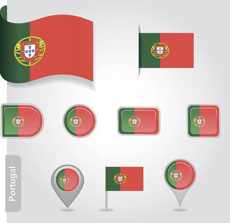 Portugal icon set of flags Vector