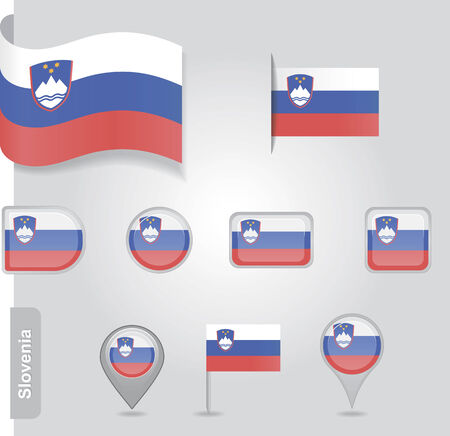 slovenian: Slovenian icon set of flags