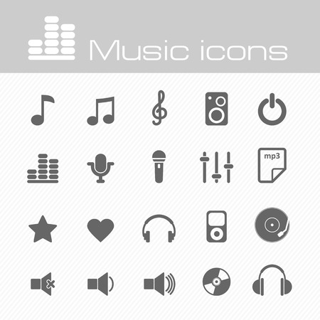 The modern music vector icons set