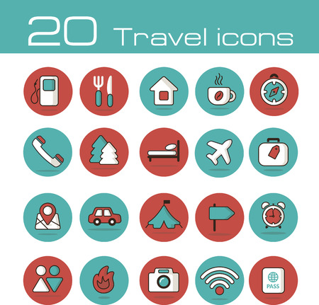 The modern travel icons set vector  Vector