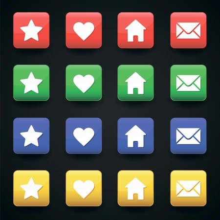 Vector app icons web set  Vector
