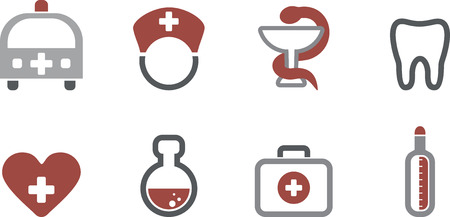 Web Icons - Medical vector set eps 10 Vector