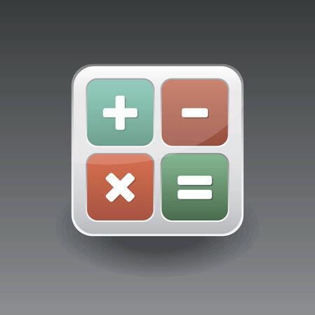 App icon calculator vector set