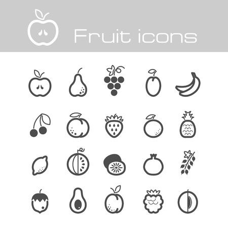 black grape: The modern icons fruits set