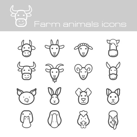 The modern farm icons set  Vettoriali