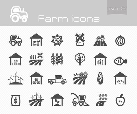 Farm icons part 2 Vector