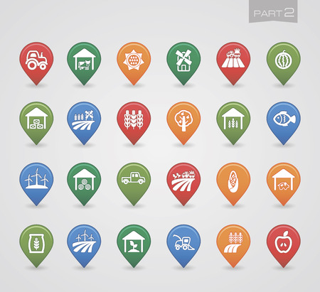 pigsty: Mapping pins icons Farm part 2
