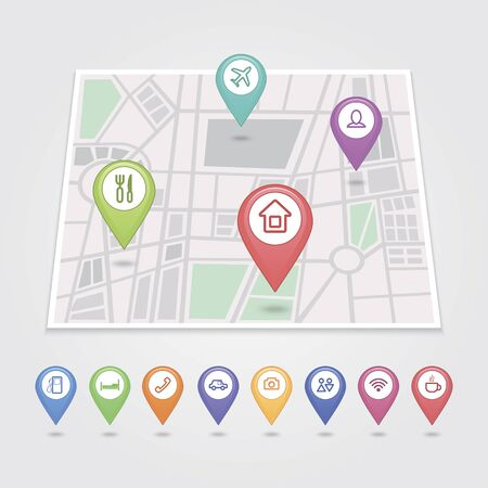 mapping: mapping pins icons travel