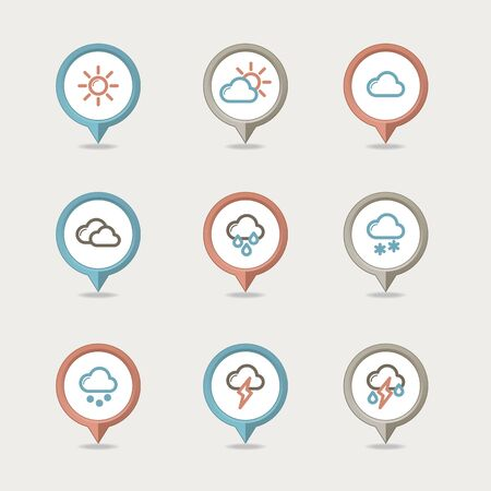 mapping: Weather mapping pins icon