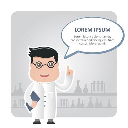 said: man chemist and a text bubble