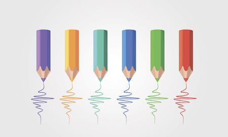 pencils: Colored pencils Illustration