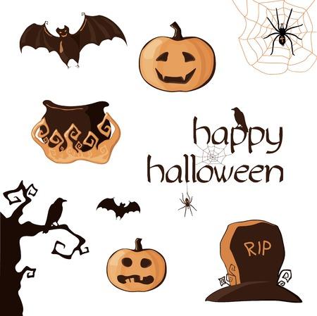 Halloween set of element  Vector