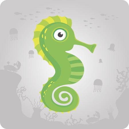 horsefish: Mar Caballo lindo de dibujos animados