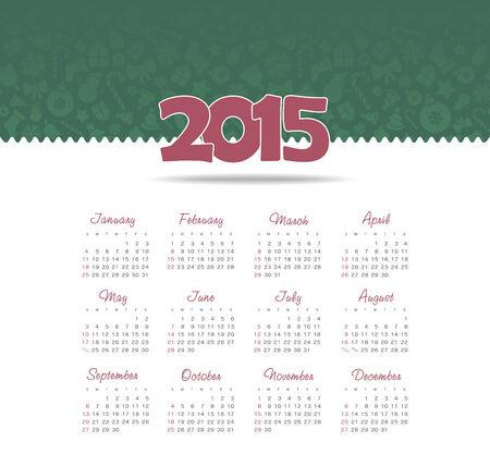 Calendar 2015 year Illustration
