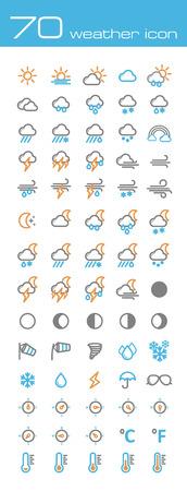 Weather icons Vettoriali