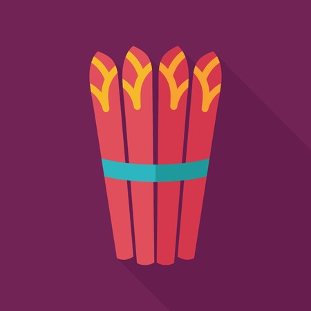 Asparagus flat icon with long shadow Illustration
