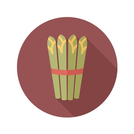 Asparagus flat icon with long shadow 일러스트
