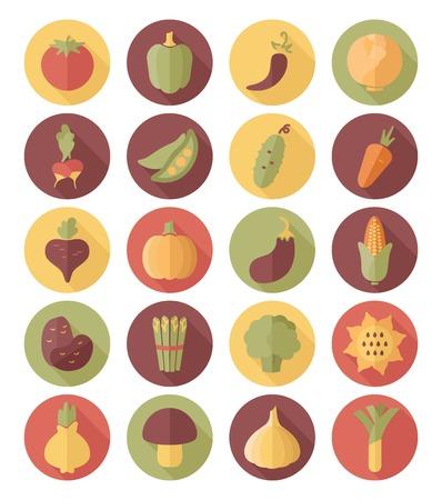 leek: Vegetable flat icon with long shadow