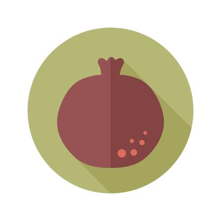 garnet: Garnet flat icon with long shadow Illustration